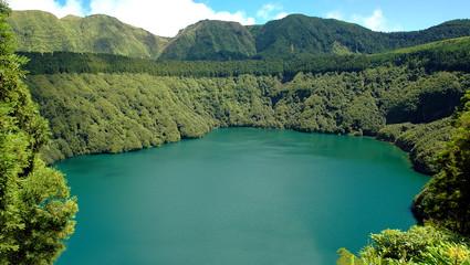 Santiago Lagoon, in Sao Miguel, Azores
