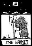 Tarot Card Hermit poster