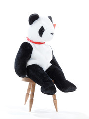 Panda Plushie on a chair