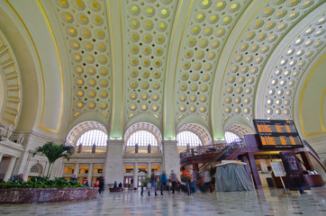 Union Station Interior, Washington DC USA