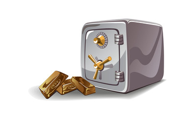 Safe and gold illustration