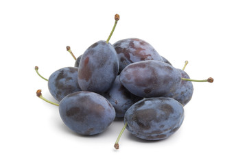 Whole fresh Damson plums