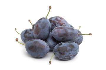 Whole fresh Damson plums