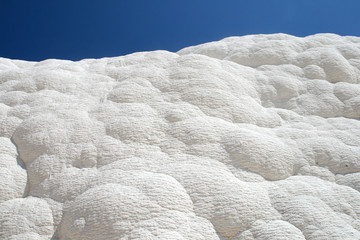 White rocks and travertines of Pamukkale Turkey