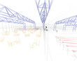 progetto palasport piscina rendering 3d ingegneria architettura