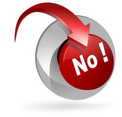 no icon button 3d