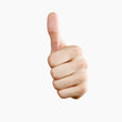 Thumbs up! Isolated with clipping path