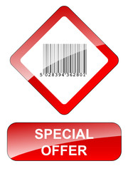 SPECIAL OFFER Sign (sale half price web button stamp marketing)