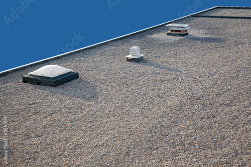 Inverted gravel roof chimney and skylight - 35901915