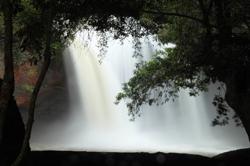 The beautiful waterfall at Khao Yai national park, in Thailand
