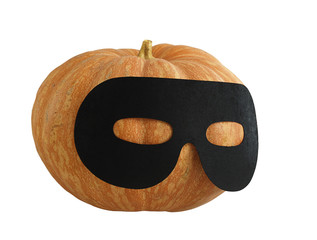 Halloween masqueraded pumpkin
