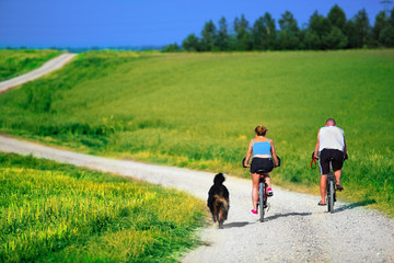 Mature couple on bike. Active, healthy lifestyle