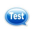 Pegatina globo Test