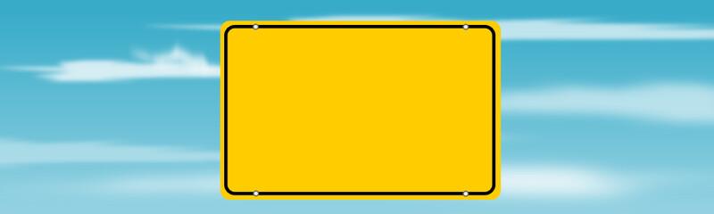 Ortschild mit blaum himmel