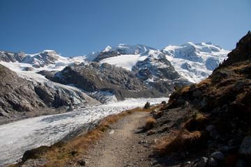 sentiero per la Chamanna da Boval - val Morteratsch