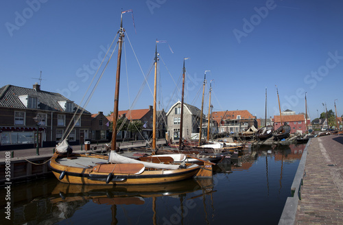 harbour of a old dutch village
