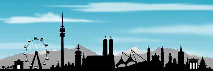 München Skyline mit Aplen