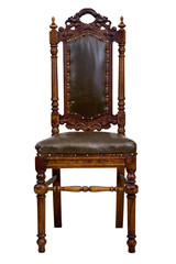 Antique armchair,isolated on white