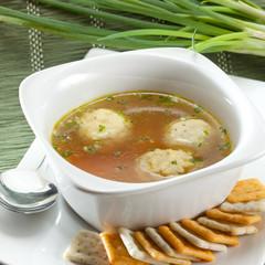 Sopa miso con albóndigas de pescado