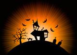Halloween nightmare world background poster