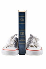 Bible and school shoe