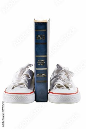 Bible and school shoe
