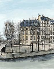 Ile Saint Louis in Paris