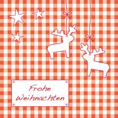 weihnachtskarokarte