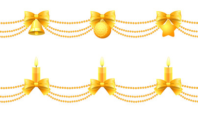 two seamless christmas garlands