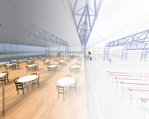 progetto ristorante rendering 3d ingegneria architettura