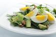 Spinach, avocado, and eggs salad