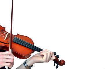Hände die Geige spielen, Violine spielen