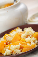 Baked pumpkin with millet