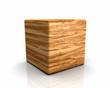3D Holzwürfel abgerundet - Olivenbaum
