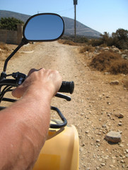 quad driving in Naxos