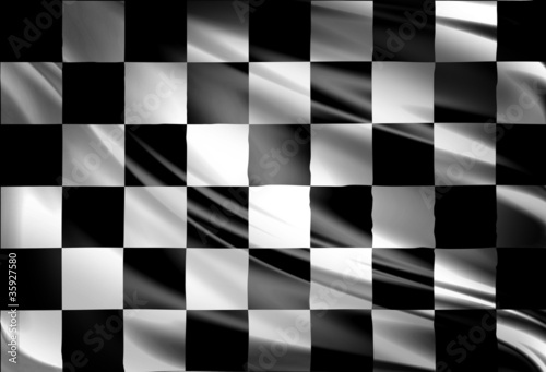 Foto op Plexiglas F1 Checkered racing flag