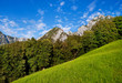Scenic nature landscape in Bavaria, Germany