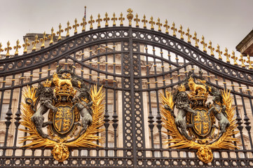 The Buckingham Palace gate