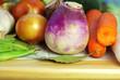 Vegetable ingredients of mediterranean cuisine