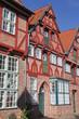 Giebelhaus mit Fachwerk