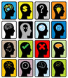 head think silhoutte vector
