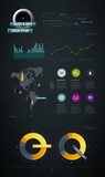 infographics items from the map of America