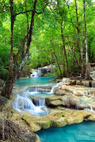 Obraz Erawan Waterfall, Kanchanaburi, Thailand