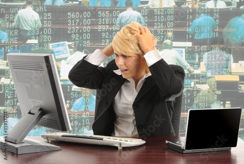 Leinwanddruck Bild Börse
