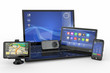 Electronics. Laptop, mobile phone, tablet pc and gps
