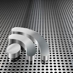 Metalic RSS Symbol on Chrome Grid