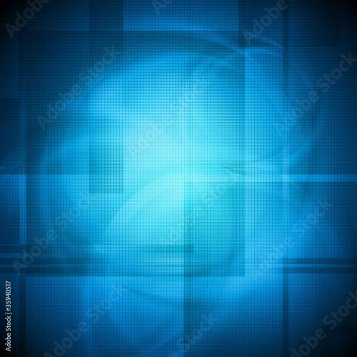 Bright blue design