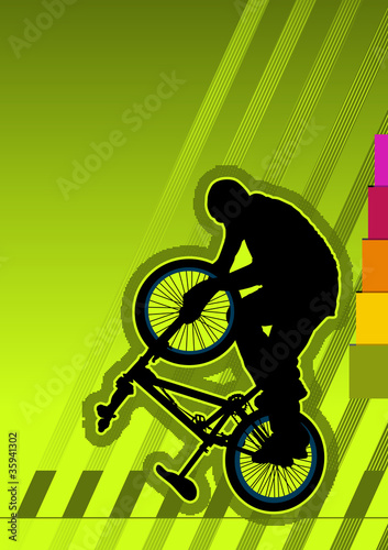 BMX concept poster template. Vector illustration.