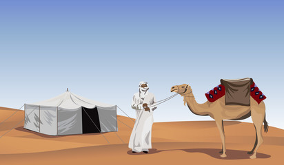 Bedouin in the Desert