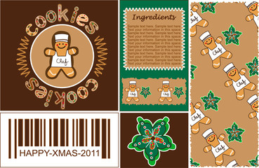 cookies chef set wrap gingerbread